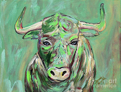 Painting - Usf Bull by Jeanne Forsythe