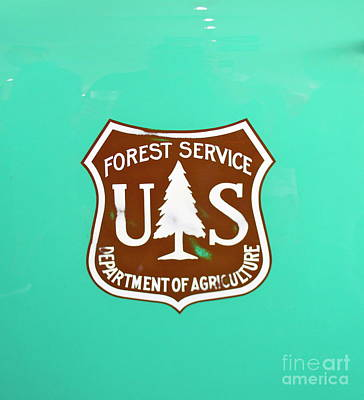 Photograph - Usfs Emblem by Pamela Walrath