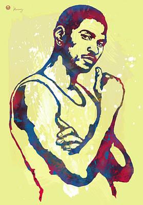 Dallas Drawing - Usher Raymond Iv  -  Pop Art Sketch Poster by Kim Wang