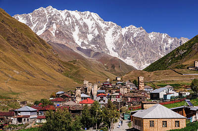 Photograph - Ushguli And  Shkhara Mount by Sergey Simanovsky