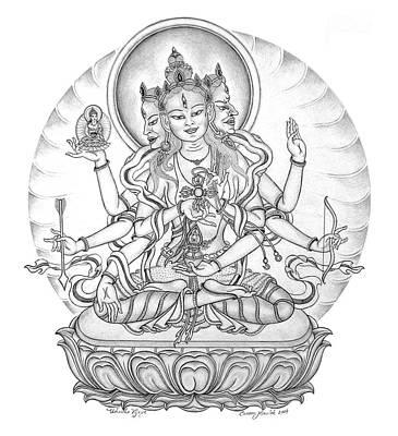 Ushnisha Vijaya Art Print by Carmen Mensink