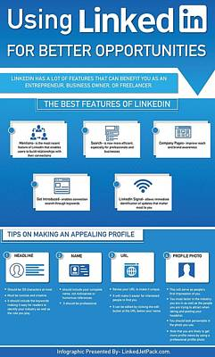 Using Linkedin For Better Opportunities Print by Tipsfor Using