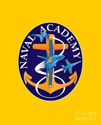 Digital Art - Usna Anchors Aweigh Fouled Anchor by Joe Barsin