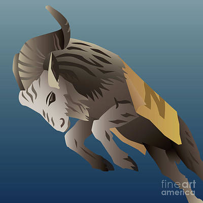 Digital Art - Usna Bill The Goat Mascot by Joe Barsin