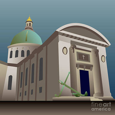 Digital Art - Usna Naval Chapel by Joe Barsin