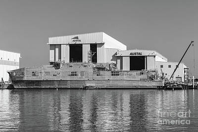 Photograph - Usns Yuma At Austal Shipyard II by Clarence Holmes