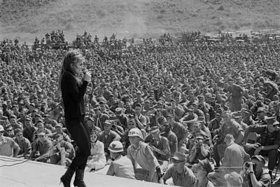 Cold War Era Photograph - Uso Entertains Troops In Vietnam. Ann by Everett