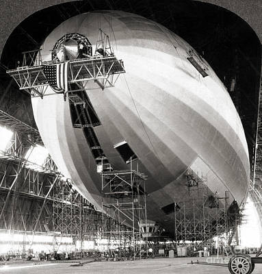 Painting - Uss Akron Construction by Granger