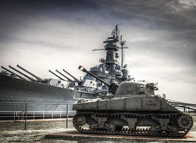 Photograph - Uss Alabama And Tank by Debra Forand