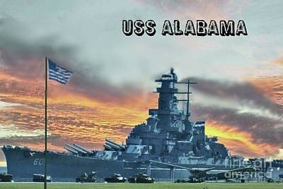 Photograph - Uss Alabama Bb-60 by Janette Boyd