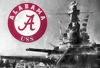 Uss Alabama Crimson Tide Art Print