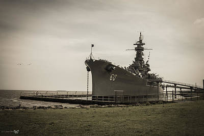 Photograph - Uss Alabama  by Debra Forand