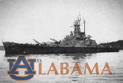 Digital Art - Uss Alabama by JC Findley