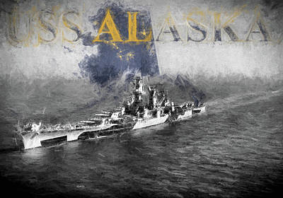 Digital Art - Uss Alaska by JC Findley