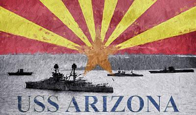 Digital Art - Uss Arizona by JC Findley