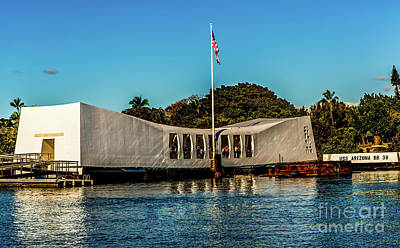 Uss Arizona Memorial Art Print by Jon Burch Photography