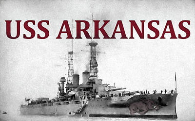 University Of Arkansas Photograph - Uss Arkansas by JC Findley