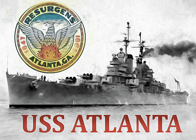 Uss Atlanta Art Print by JC Findley