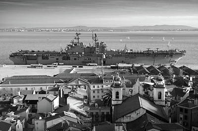 Intrepid Photograph - Uss Bataan In Lisbon by Carlos Caetano