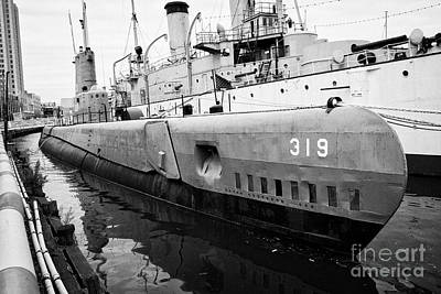 319 Photograph - Uss Becuna Ss-319 And Uss Olympia Exhibits Ar Independence Seaport Museum Dock Philadelphia Usa by Joe Fox