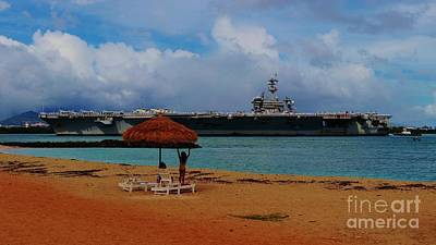Photograph - Uss Carl Vinson Returns To Pearl Harbor by Craig Wood