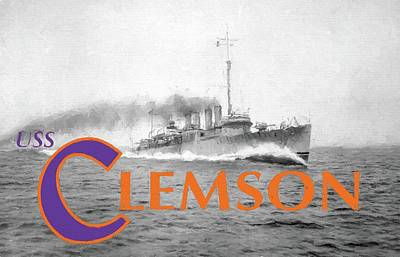 Photograph - Uss Clemson by JC Findley