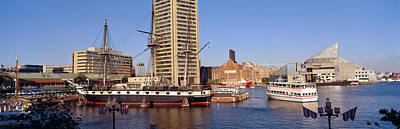 Inner Harbor Photograph - Uss Constellation, Inner Harbor by Panoramic Images