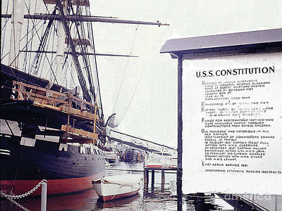 Photograph - U.s.s. Constitution At Dock - Boston Harbor by Merton Allen