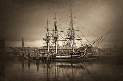 Photograph - Uss Constitution Boston Vintage by Carol Japp