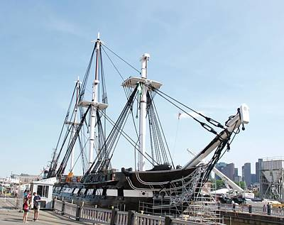 Photograph - Uss Constitution Dry Dock by Caroline Stella