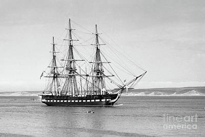 Photograph - Uss Constitution Old Ironsides In Monterey Bay Oct. 1933 by California Views Mr Pat Hathaway Archives