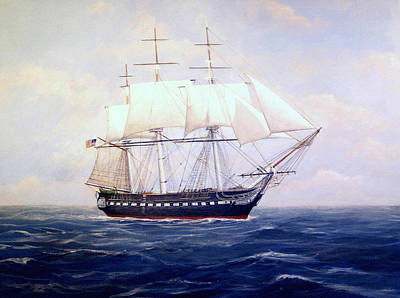 Uss Constitution Art Print by William H RaVell III