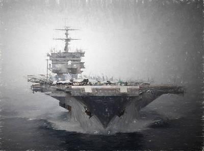 Uss Enterprise Art Print by Brian Goodwin