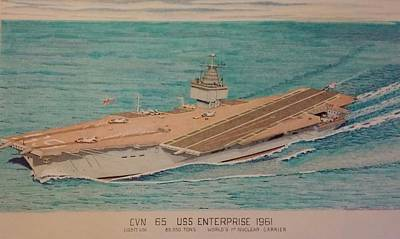 Uss Enterprise Cvn 65 Art Print
