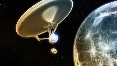 Klingon Wall Art - Digital Art - Uss Enterprise Leaving Home by Robert Radmore