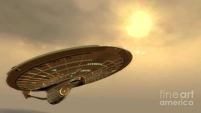 Klingon Wall Art - Digital Art - Uss Enterprise One Last Voyage by Robert Radmore