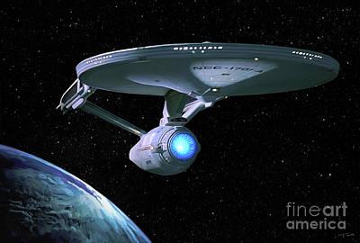 Star Trek Painting - Uss Enterprise Refit by Paul Tagliamonte