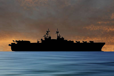 Essex Wall Art - Photograph - Uss Essex 1992 V3 by Smart Aviation