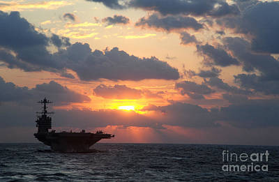 Politicians Royalty-Free and Rights-Managed Images - USS George Washington by Celestial Images