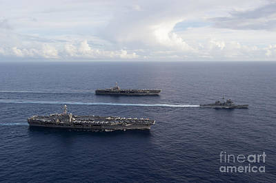 Politicians Royalty-Free and Rights-Managed Images - Uss George Washington, Uss John C by Stocktrek Images