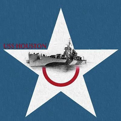 The Lone Star State Digital Art - Uss Houston by JC Findley