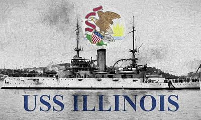 Uss Illinois Art Print by JC Findley