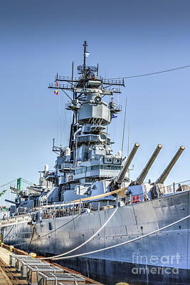 Photograph - Uss Iowa Battleship Bb 61 by David Zanzinger