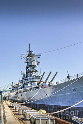 Photograph - Uss Iowa Battleship Vertical by David Zanzinger