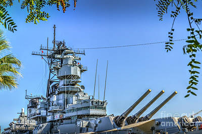 Photograph - Uss Iowa Bb 61 Battleship by David Zanzinger