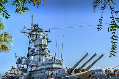 Photograph - Uss Iowa Bb 61 Battleship by David Zanzinger