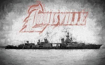 Digital Art - Uss Louisville by JC Findley