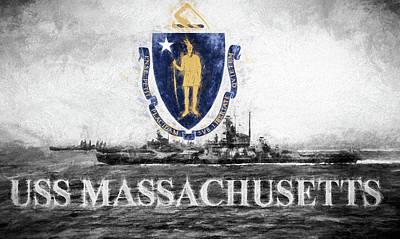 Digital Art - Uss Massachusetts by JC Findley