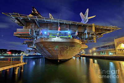 Photograph - Uss Midway Aircraft Carrier  by Sam Antonio Photography