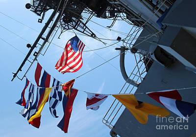 Uss Midway Flag Art Print